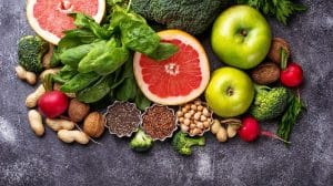 Healthy vegetarian food_ vegetables, fruit, seeds and nuts   Feature   What To Drink On A Raw Food Diet (And What To Avoid)
