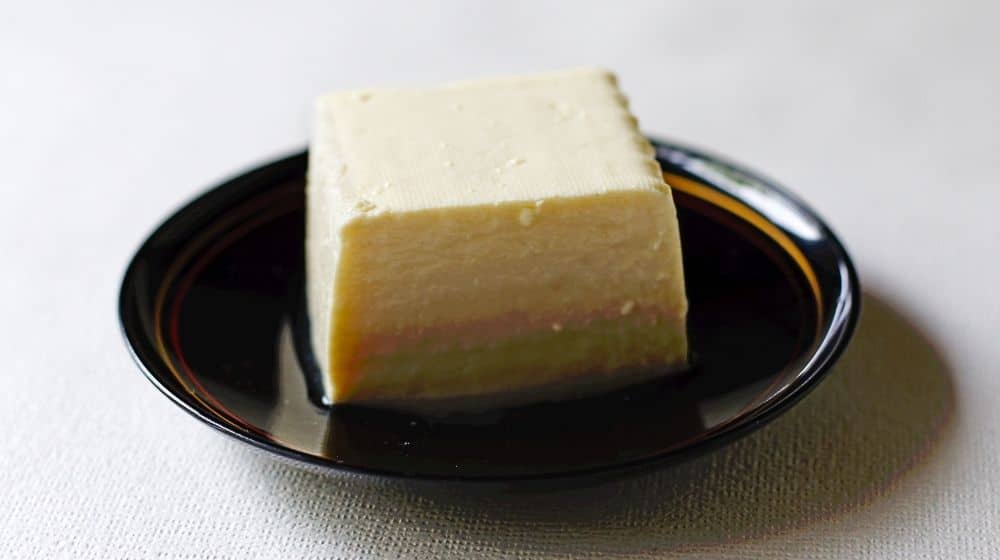 silken tofu on black plate | Feature | Tasty Vegan Egg Alternatives